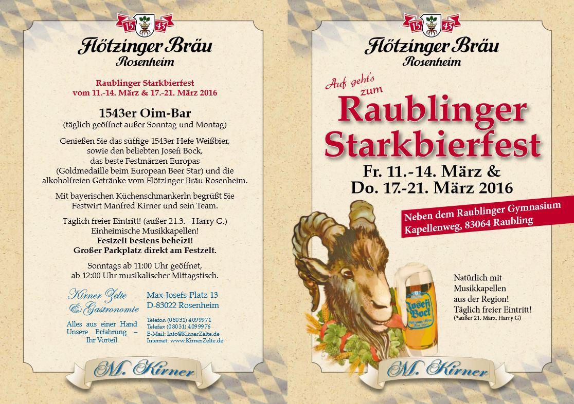 Programm Raublinger Starkbierfest 2016
